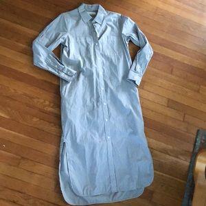 Everlane poplin pinstripe shirt dress NWOT 4